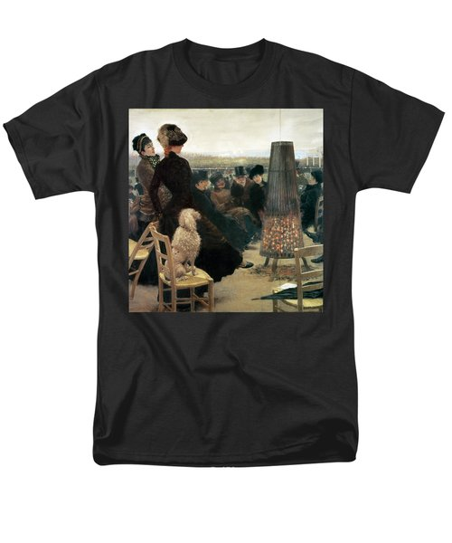 The Races At Auteuil Men's T-Shirt  (Regular Fit) by Giuseppe Nittis