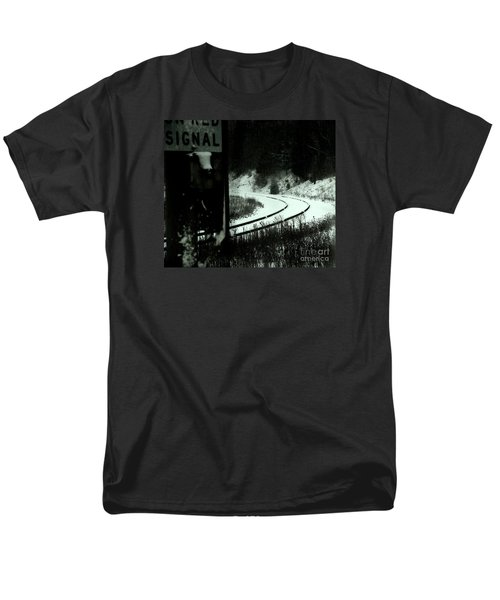 The Rail To Anywhere Men's T-Shirt  (Regular Fit) by Linda Shafer