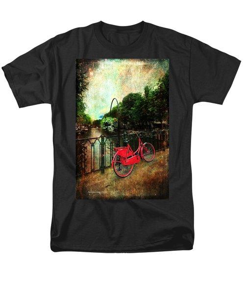 The Red Bicycle Men's T-Shirt  (Regular Fit) by Randi Grace Nilsberg