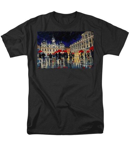 The Rendezvous Of Terreaux Square In Lyon Men's T-Shirt  (Regular Fit)