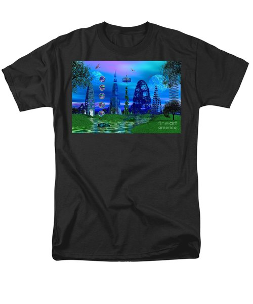 Men's T-Shirt  (Regular Fit) featuring the photograph The River Quinque by Mark Blauhoefer