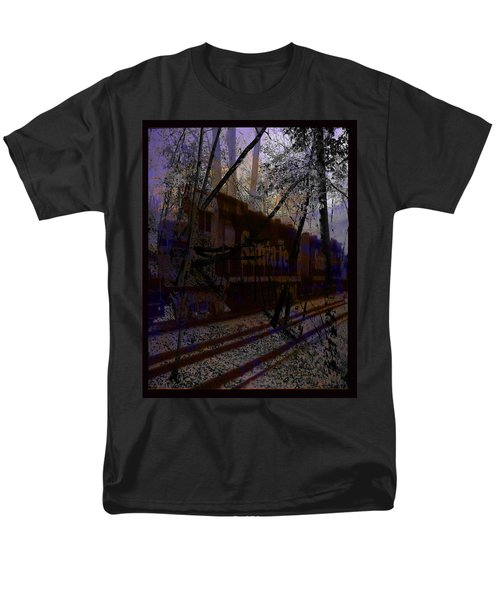 Men's T-Shirt  (Regular Fit) featuring the digital art The Santa Fe by Cathy Anderson