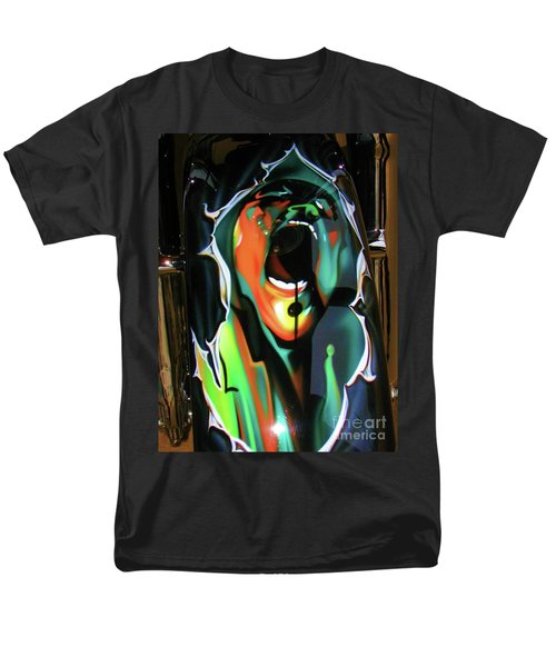 Men's T-Shirt  (Regular Fit) featuring the photograph The Scream - Pink Floyd by Susan Carella