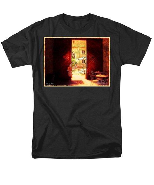 The Secret Courtyard  Men's T-Shirt  (Regular Fit) by Becky Lupe