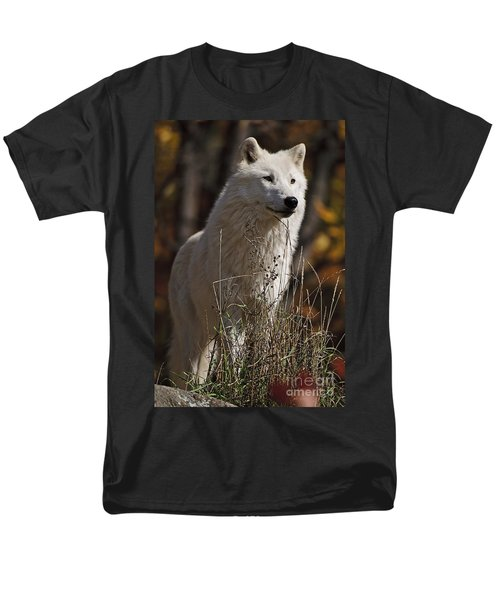 Men's T-Shirt  (Regular Fit) featuring the photograph The Sentinel by Wolves Only