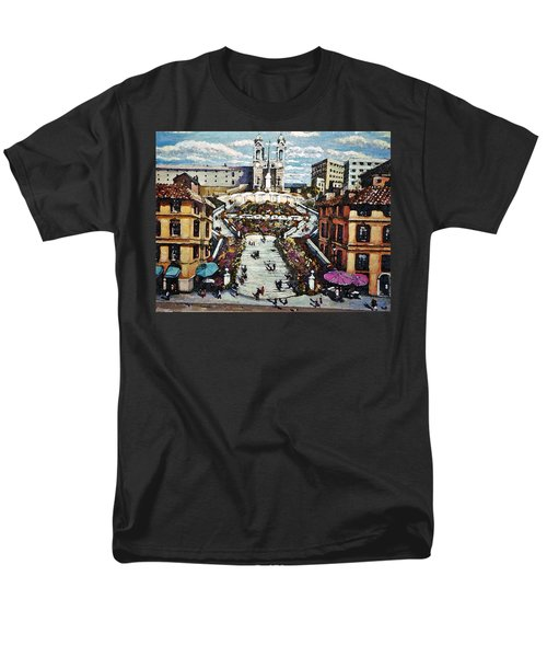 Men's T-Shirt  (Regular Fit) featuring the painting The Spanish Steps by Rita Brown