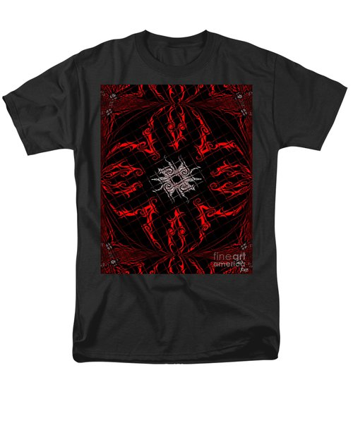 Men's T-Shirt  (Regular Fit) featuring the painting The Spider's Web  by Roz Abellera Art