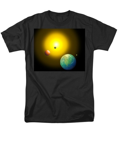Men's T-Shirt  (Regular Fit) featuring the digital art The Sun by Cyril Maza
