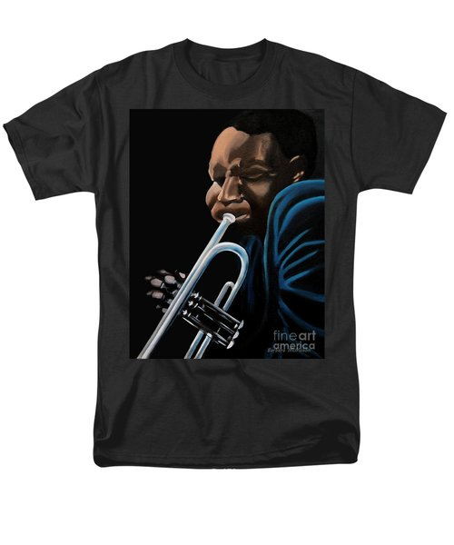 Men's T-Shirt  (Regular Fit) featuring the painting The Trumpeter by Barbara McMahon
