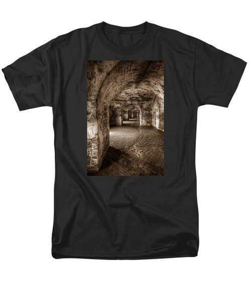 The Tunnels Of Fort Pike Men's T-Shirt  (Regular Fit) by Tim Stanley