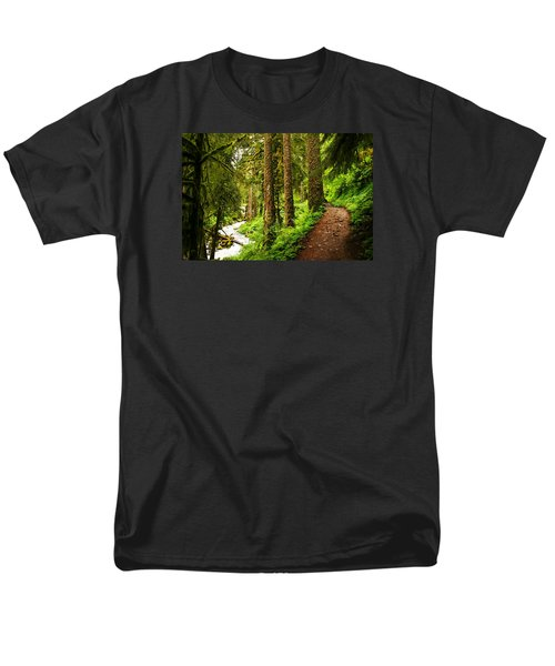 The Twisting Path Winding Through Paradise  Men's T-Shirt  (Regular Fit) by Jeff Swan