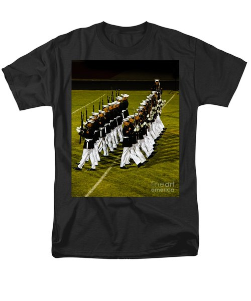 The United States Marine Corps Silent Drill Platoon Men's T-Shirt  (Regular Fit) by Robert Bales