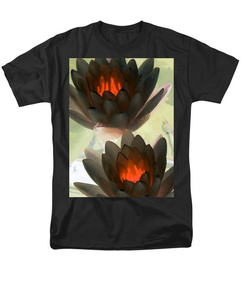 Men's T-Shirt  (Regular Fit) featuring the photograph The Water Lilies Collection - Photopower 1042 by Pamela Critchlow