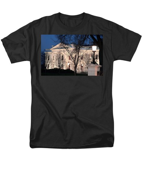 Men's T-Shirt  (Regular Fit) featuring the photograph The White House At Dusk by Cora Wandel