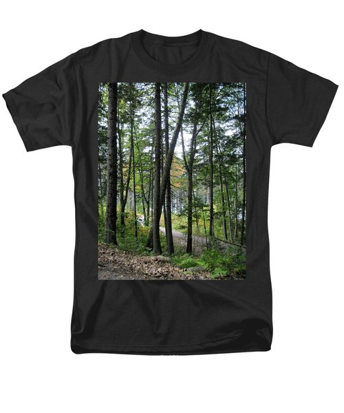The Woods Coastal Maine Botanical Gardens Men's T-Shirt  (Regular Fit) by Patricia E Sundik