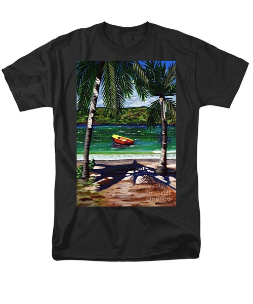 The Yellow And Red Boat Men's T-Shirt  (Regular Fit) by Laura Forde