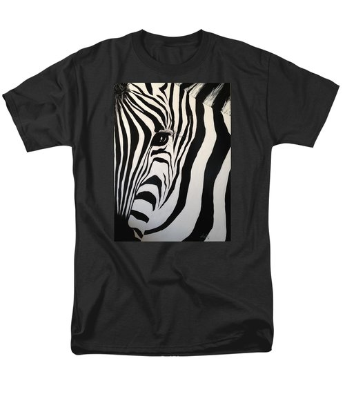 Men's T-Shirt  (Regular Fit) featuring the painting The Zebra With One Eye by Alan Lakin