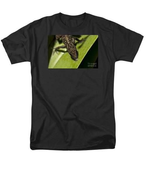 Men's T-Shirt  (Regular Fit) featuring the photograph Thirsty Brown Anole by Meg Rousher