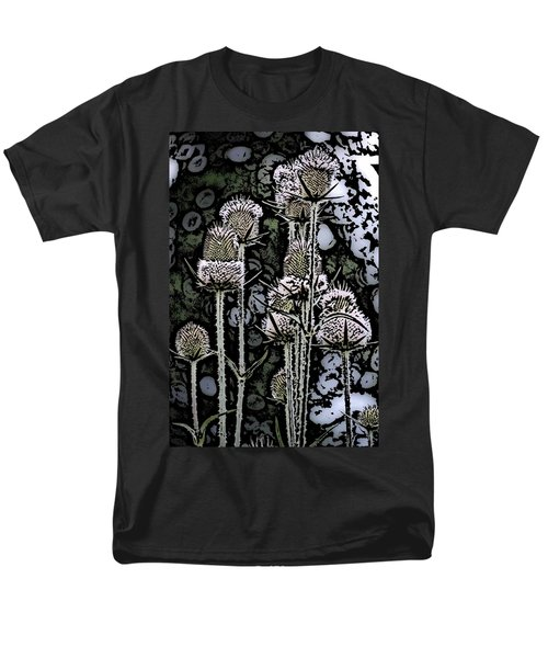 Men's T-Shirt  (Regular Fit) featuring the digital art Thistle  by David Lane