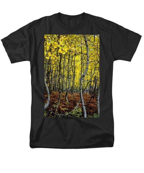 Men's T-Shirt  (Regular Fit) featuring the photograph Through The Aspen Forest by Ellen Heaverlo
