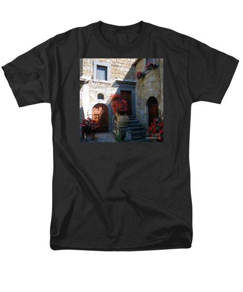 Three Doors In Bagnoregio Men's T-Shirt  (Regular Fit) by Barbie Corbett-Newmin