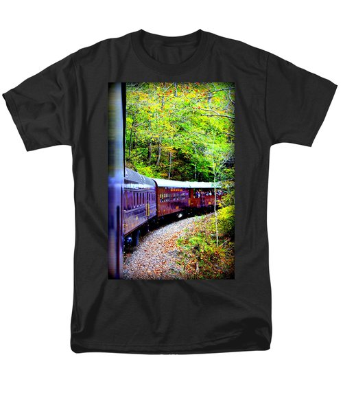 Through The Mountains Men's T-Shirt  (Regular Fit) by Faith Williams