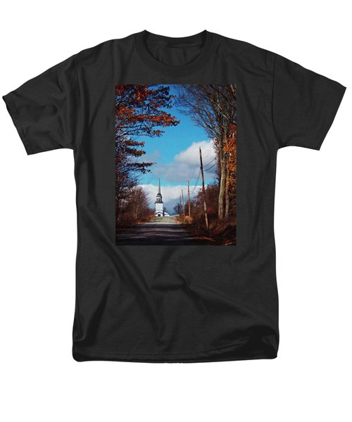 Through The Trees View Of The Norlands Church Steeple Men's T-Shirt  (Regular Fit) by Joy Nichols