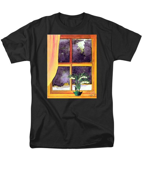 Men's T-Shirt  (Regular Fit) featuring the painting Through The Window by Patricia Griffin Brett