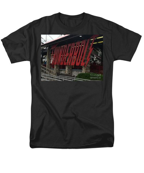 Thunderbolt Roller Coaster Men's T-Shirt  (Regular Fit) by Michael Krek