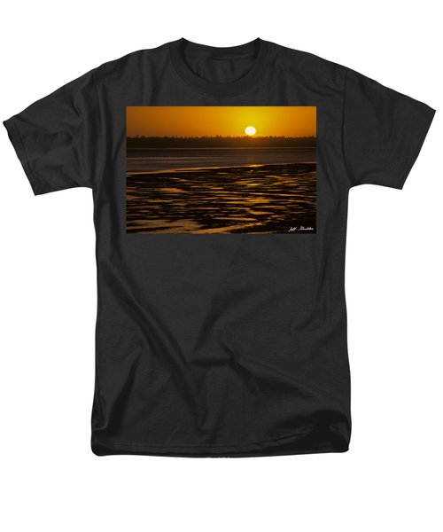 Men's T-Shirt  (Regular Fit) featuring the photograph Tidal Pattern At Sunset by Jeff Goulden