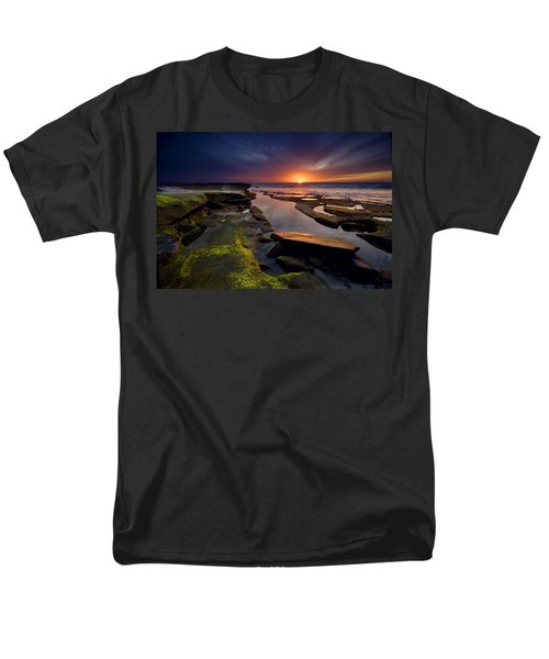 Tidepool Sunsets Men's T-Shirt  (Regular Fit) by Peter Tellone