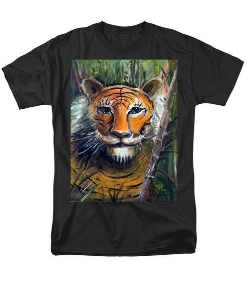 Men's T-Shirt  (Regular Fit) featuring the painting Tiger by Bernadette Krupa