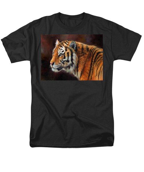 Tiger Portrait  Men's T-Shirt  (Regular Fit) by David Stribbling