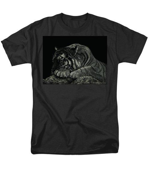 Tiger Power At Peace Men's T-Shirt  (Regular Fit) by Sandra LaFaut