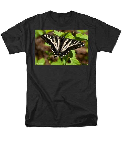 Men's T-Shirt  (Regular Fit) featuring the photograph Tiger Swallowtail Butterfly by Jeff Goulden