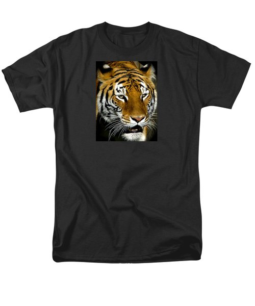 Tiger Tiger Burning Bright Men's T-Shirt  (Regular Fit) by Venetia Featherstone-Witty
