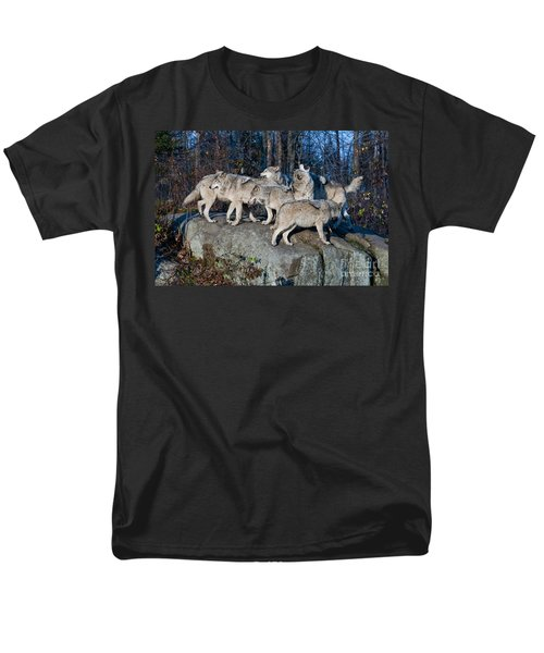 Timber Wolf Pack Men's T-Shirt  (Regular Fit) by Wolves Only
