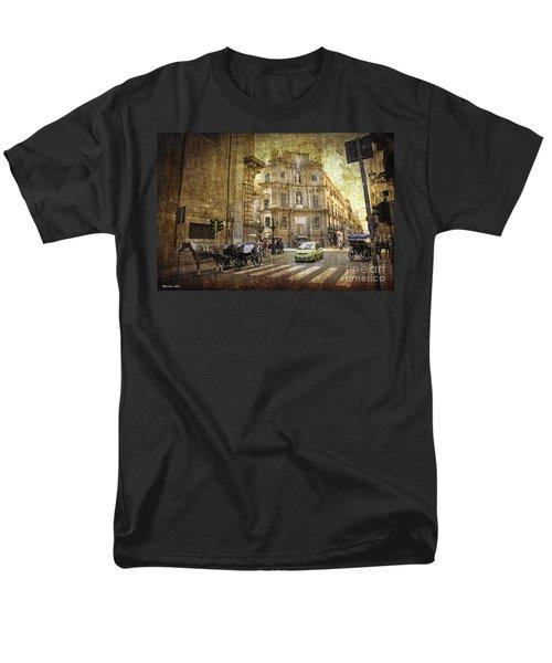 Time Traveling In Palermo - Sicily Men's T-Shirt  (Regular Fit) by Madeline Ellis