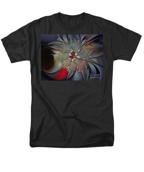 Timeless Elegance-floral Fractal Design Men's T-Shirt  (Regular Fit) by Karin Kuhlmann