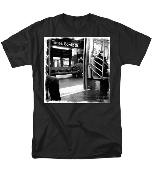 Men's T-Shirt  (Regular Fit) featuring the photograph Times Square - 42nd St by James Aiken