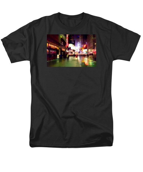 Times Square New York - Nanking Restaurant Men's T-Shirt  (Regular Fit) by Miriam Danar