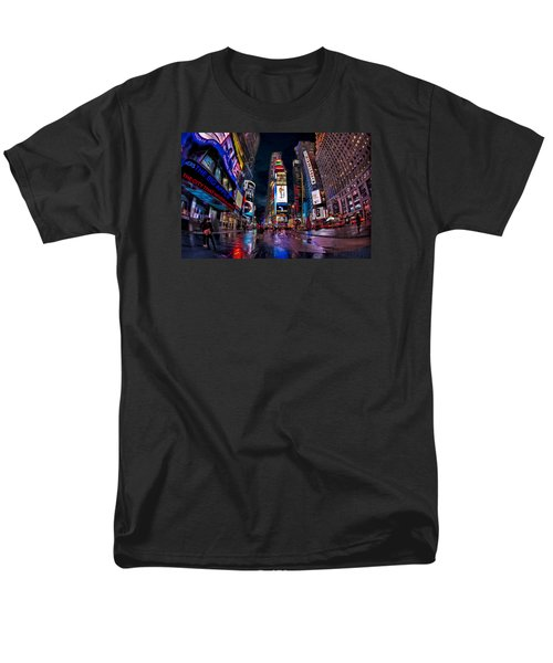 Times Square New York City The City That Never Sleeps Men's T-Shirt  (Regular Fit) by Susan Candelario