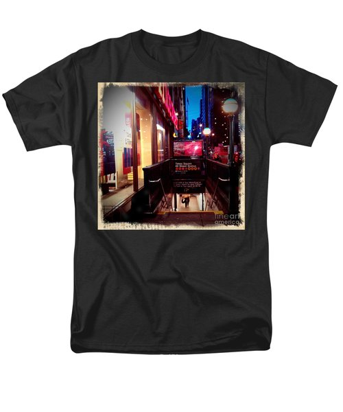 Men's T-Shirt  (Regular Fit) featuring the photograph Times Square Station by James Aiken