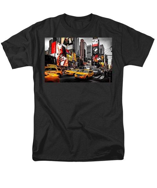 Times Square Taxis Men's T-Shirt  (Regular Fit) by Az Jackson