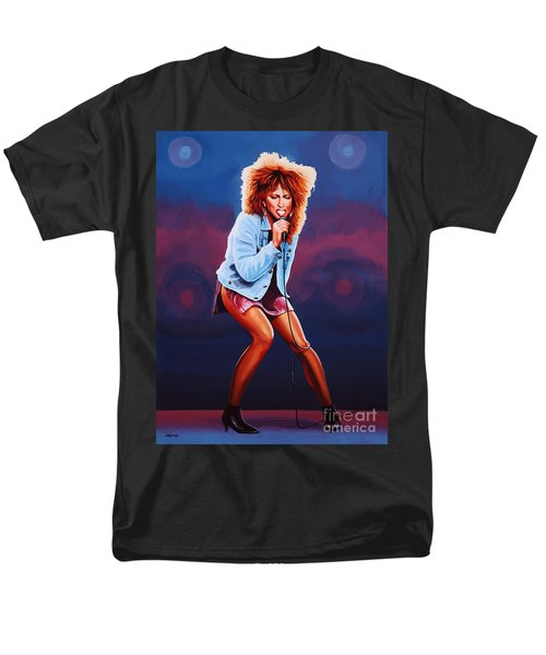 Tina Turner Men's T-Shirt  (Regular Fit) by Paul Meijering