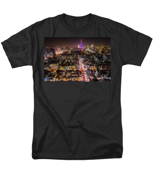 Tokyo Tower - Tokyo - Japan Men's T-Shirt  (Regular Fit) by Luciano Mortula