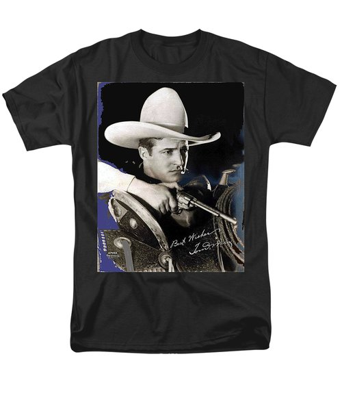 Tom Mix Portrait Melbourne Spurr Hollywood California C.1925-2013 Men's T-Shirt  (Regular Fit) by David Lee Guss