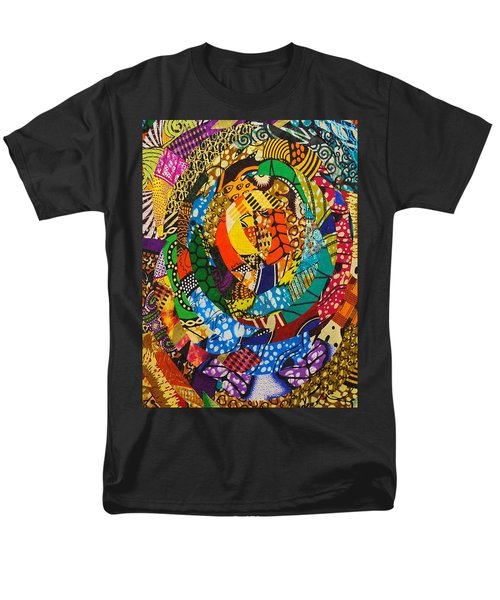 Men's T-Shirt  (Regular Fit) featuring the tapestry - textile Tor by Apanaki Temitayo M