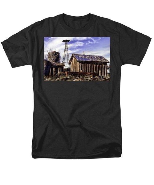 Men's T-Shirt  (Regular Fit) featuring the painting Tower by Muhie Kanawati
