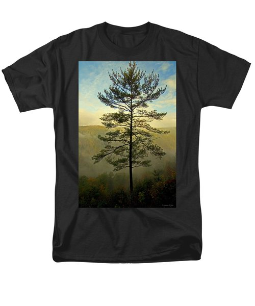 Men's T-Shirt  (Regular Fit) featuring the photograph Towering Pine by Suzanne Stout